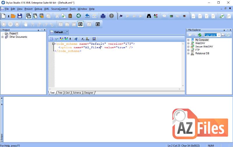XML format in Progress Stylus Studio